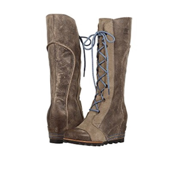 1ba8e180aa4 Sorel Cate the Great Wedge Boots Pebble. M 5ada3dcc85e605a4eb9636da
